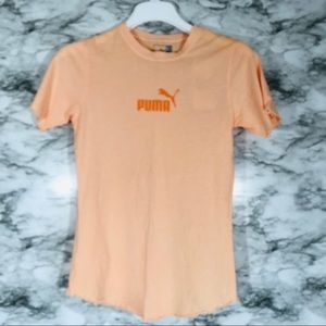 Puma Scallop Sleeve T-shirt Size Small